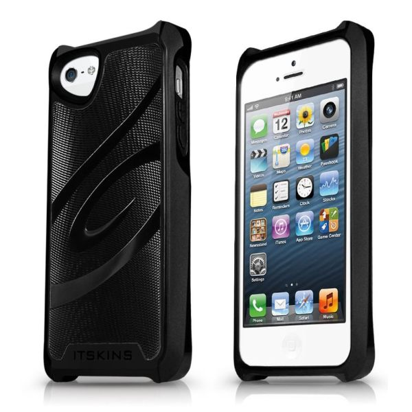 Puzdro ITSKINS Fusion Alu Core pre Apple iPhone 5, 5S a SE, Black