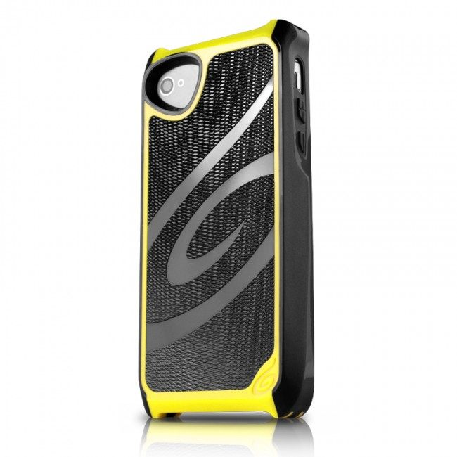 Puzdro ITSKINS Fusion Alu Core pre Apple iPhone 5, 5S a SE, BlackYellow