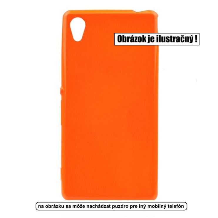 Puzdro Jelly Case Flash pre Microsoft Lumia 550, Orange