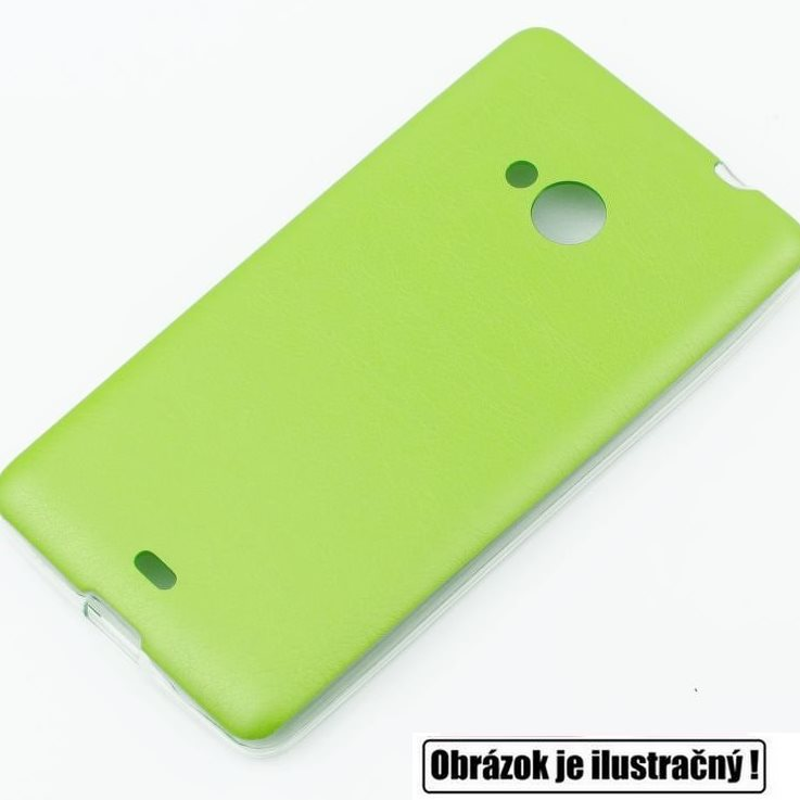 Puzdro Jelly Leather pre HTC Desire 620, Lime