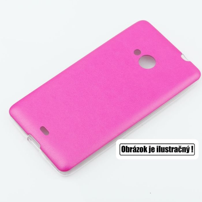 Puzdro Jelly Leather pre HTC Desire 620, Pink