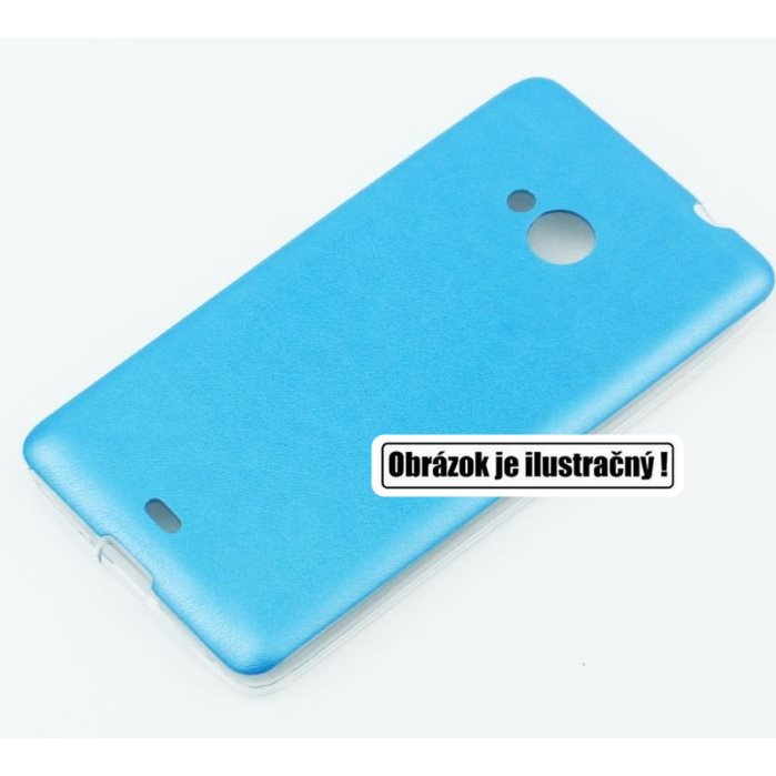 Puzdro Jelly Leather pre HTC One - M9, Blue