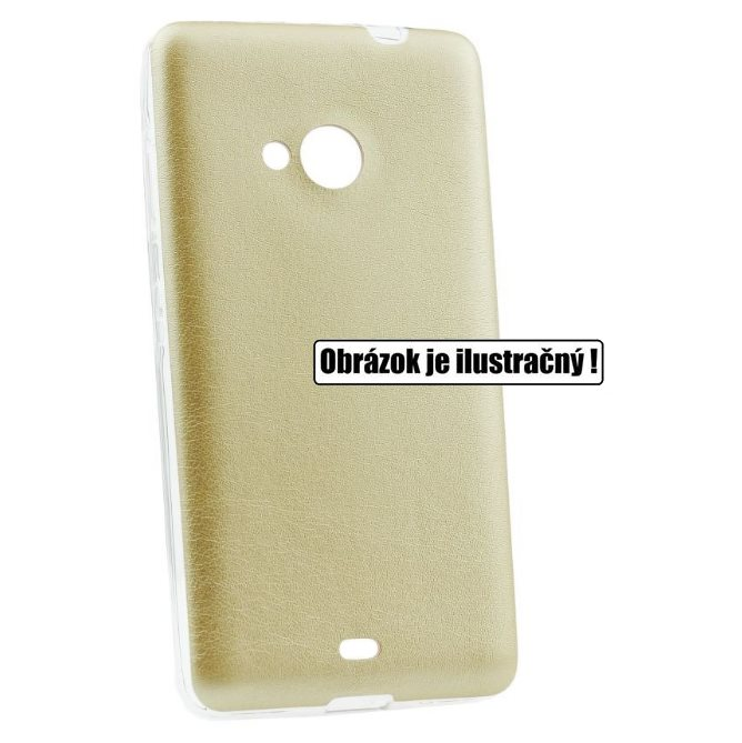 Puzdro Jelly Leather pre HTC One - M9, Gold