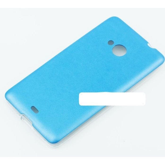 Puzdro Jelly Leather pre Sony Xperia E4 - E2105, Sony Xperia E4 Dual - E2115, Blue