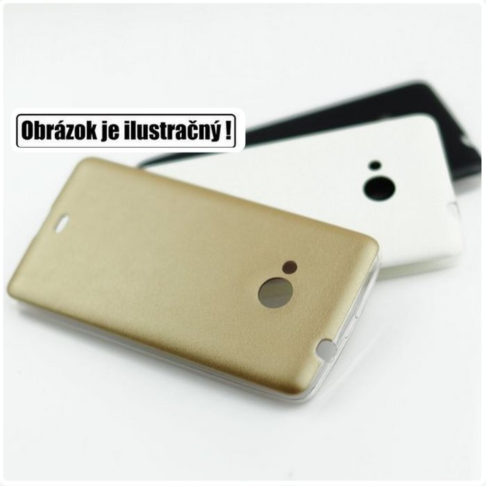 Puzdro Jelly Leather pre Sony Xperia M2 - D2303, Gold