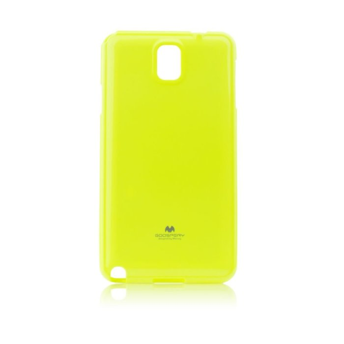 Puzdro Jelly Mercury Fluorescend pre Samsung Galaxy Note 3 - N9005, Lime