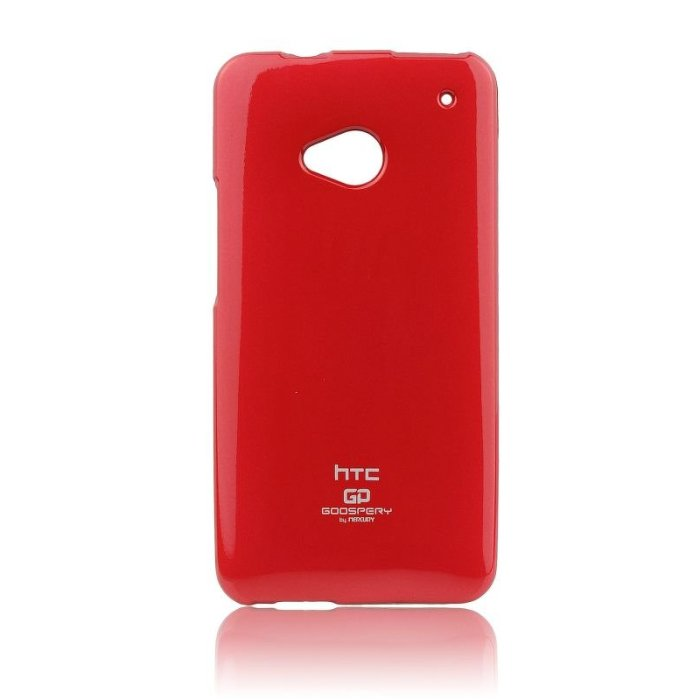 Puzdro Jelly Mercury pre HTC ONE - M7, Red