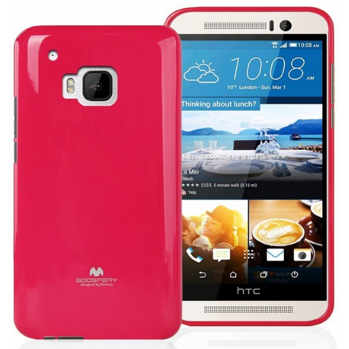 Puzdro Jelly Mercury pre HTC One - M9, Pink