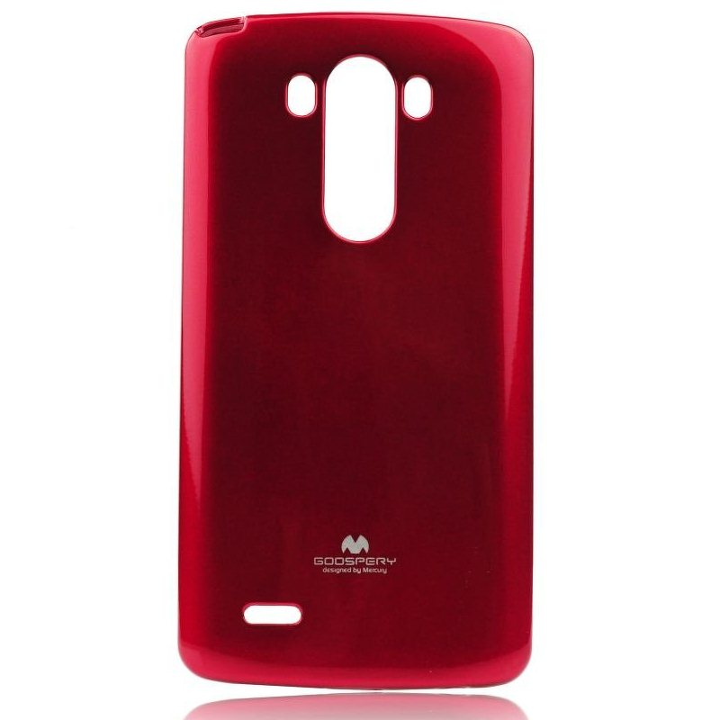 Puzdro Jelly Mercury pre LG G3 - D855, Red