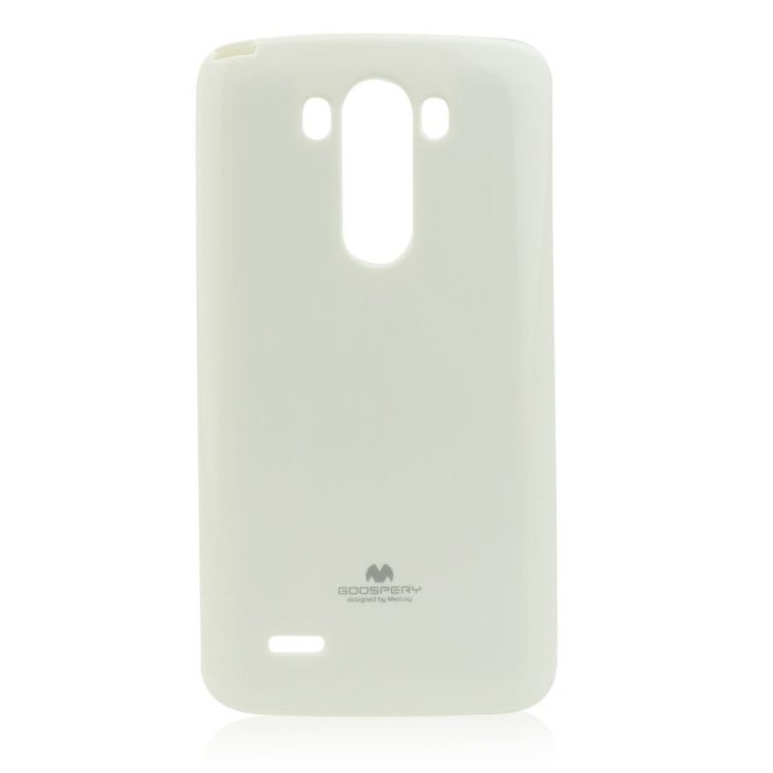 Puzdro Jelly Mercury pre LG G3 - D855, White