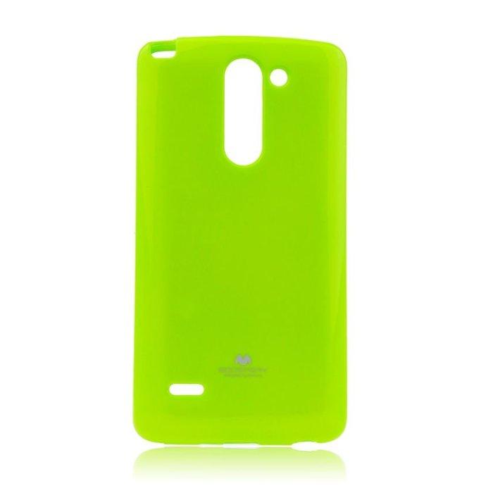 Puzdro Jelly Mercury pre LG G3 Stylus - D690, Lime