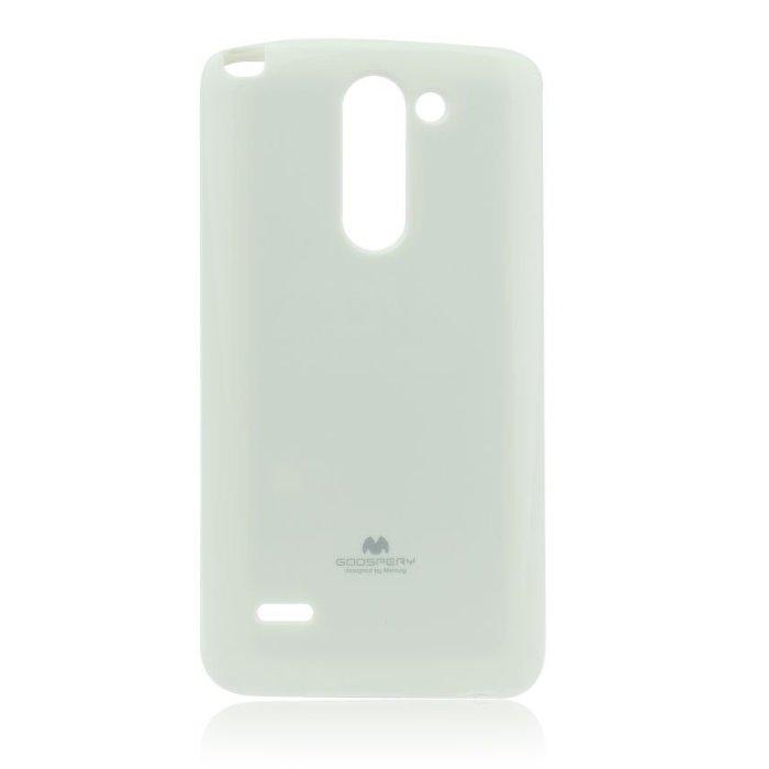 Puzdro Jelly Mercury pre LG G3 Stylus - D690, White