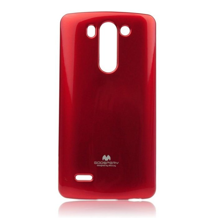 Puzdro Jelly Mercury pre LG G3s - D722, Red