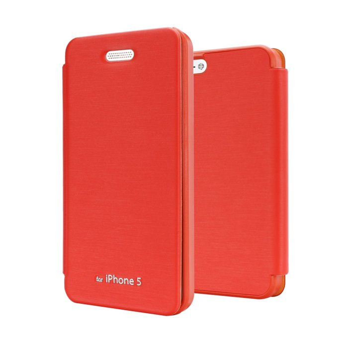 Puzdro Jelly Techno Flip pre Apple iPhone 5, 5S a SE, Orange