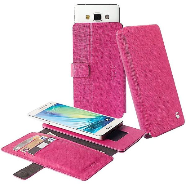 Puzdro Krusell Malmo FlipWallet Slide pre GoClever Quantum 600, Pink