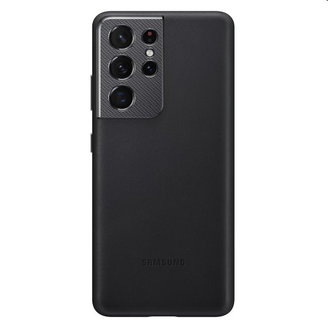 Puzdro Leather Cover pre Samsung Galaxy S21 Ultra - G998B, black (EF-VG998L)
