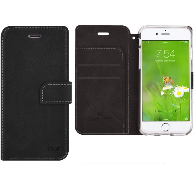 Puzdro Molan Cano Issue Book pre Apple iPhone 5, 5S a SE, Black