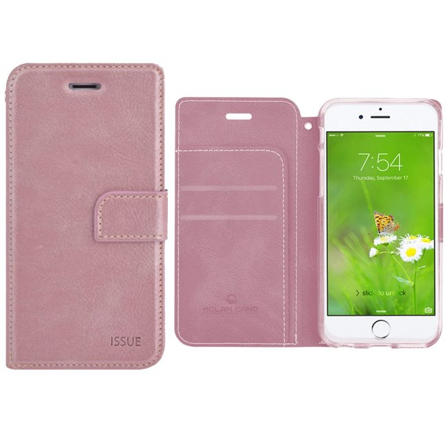 Puzdro Molan Cano Issue Book pre Apple iPhone 6 a 6S, Rose Gold 8596311002939