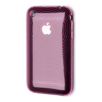 Puzdro Muvit Silikon + Fólia - Apple iPhone 3G a 3GS, Pink MUVBACKIP3PINK