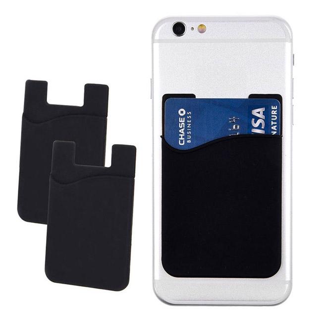 Púzdro na karty/bankovky pre mobilný telefón, čierne