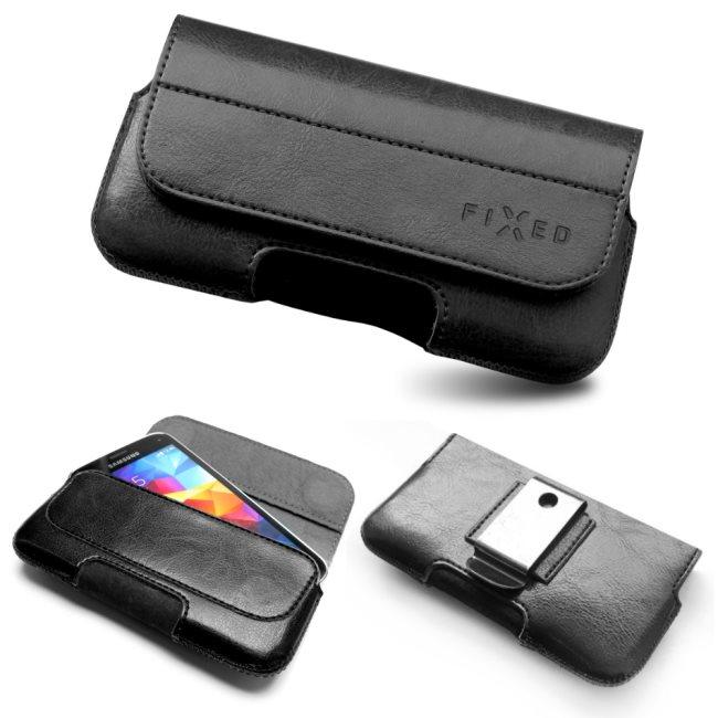 Puzdro na opasok Fixed Safir pre Váš smartfón - L, Black