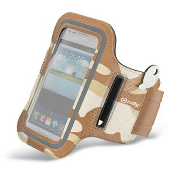 Puzdro na rameno Celly pre Apple iPhone 5, 5S a SE, Brown Camo