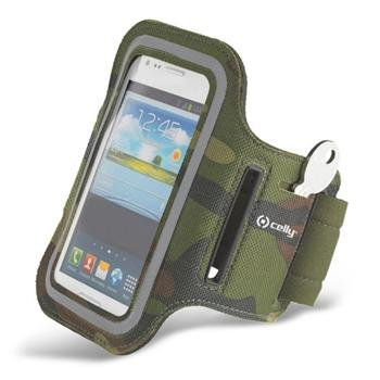 Puzdro na rameno Celly pre Apple iPhone 5, Green Camo
