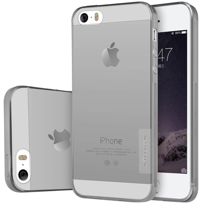 Puzdro Nillkin Nature TPU pre Apple iPhone 5S, Apple iPhone SE, Grey