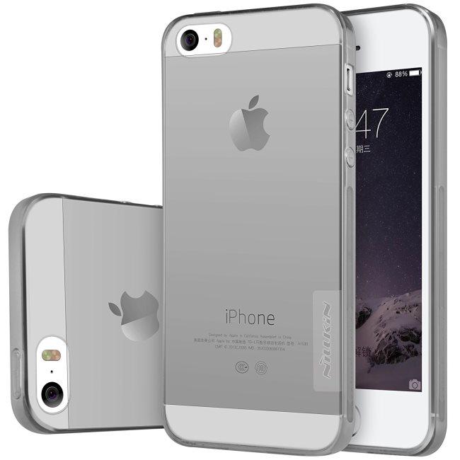 Puzdro Nillkin Nature TPU pre Apple iPhone 5S, Apple iPhone SE, Grey 6902048116931
