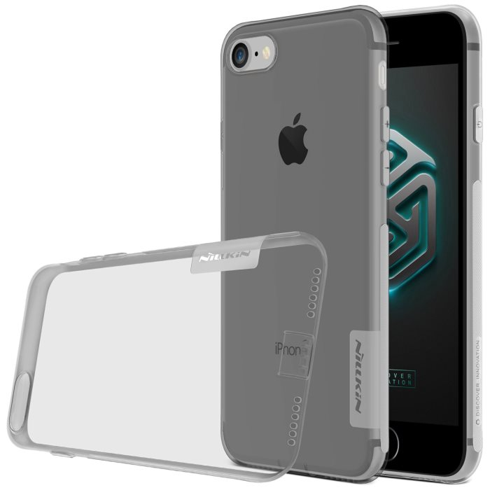 Puzdro Nillkin Nature TPU pre Apple iPhone 7 Plus a iPhone 8 Plus, Grey 6902048127784