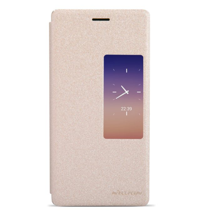 Puzdro Nillkin Sparkle S-VIEW pre Huawei Ascend P7, Gold