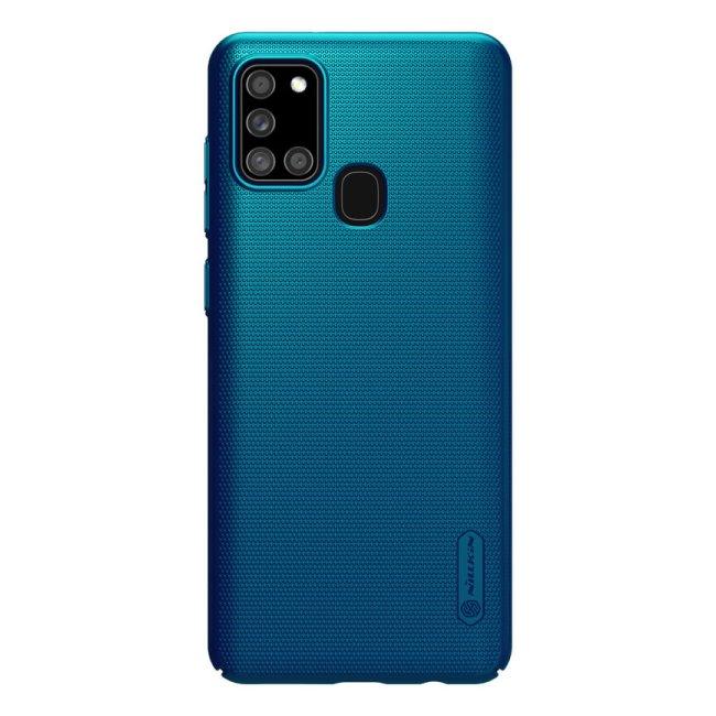 Puzdro Nillkin Super Frosted pre Samsung Galaxy A21s - A217F, modré 2452673