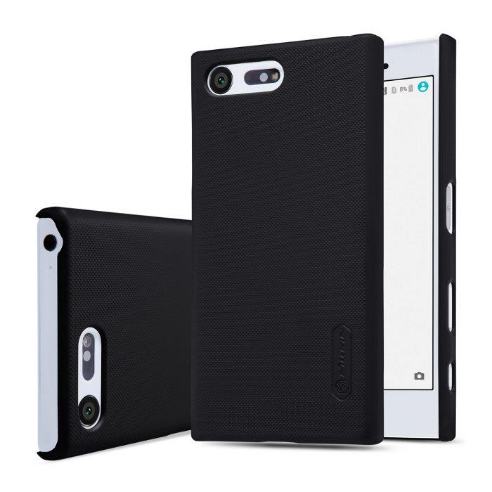 Puzdro Nillkin Super Frosted pre Sony Xperia X Compact - F5321, Black + ochranná fólia na displej