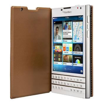 Puzdro origin�lne flip pre BlackBerry Passport, Tan