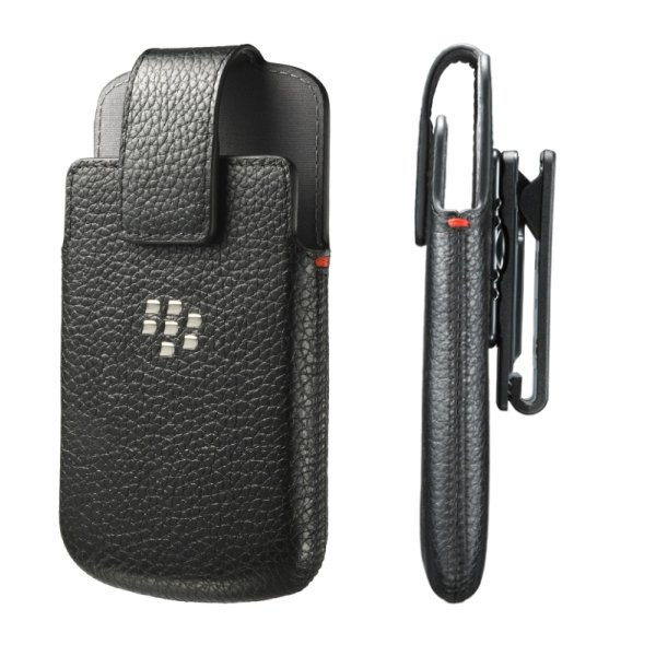 Puzdro origin�lne ko�en� Swivel Holster pre BlackBerry Q10, Black