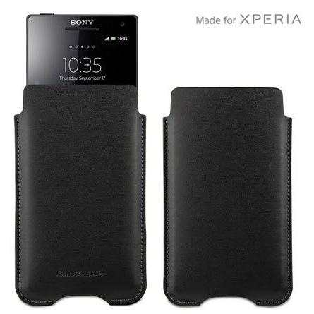 Puzdro originálne pre Sony Xperia Sola - MT27, Black