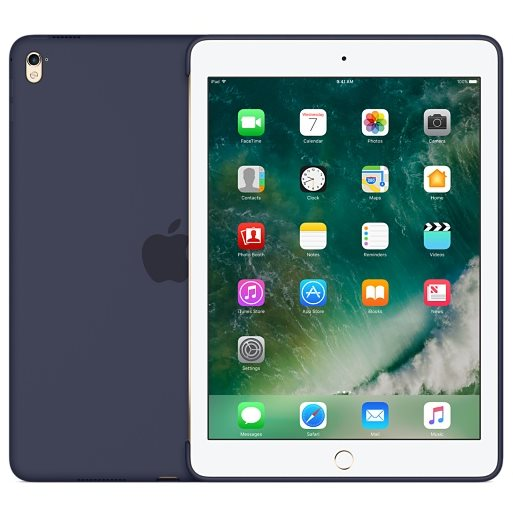 Puzdro originálne Silicone Case pre Apple iPad Pro 9.7, Midnight Blue