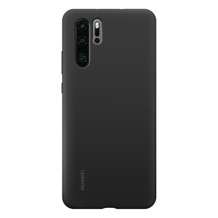 Puzdro originálne Silicone Case pre Huawei P30 Pro, Black