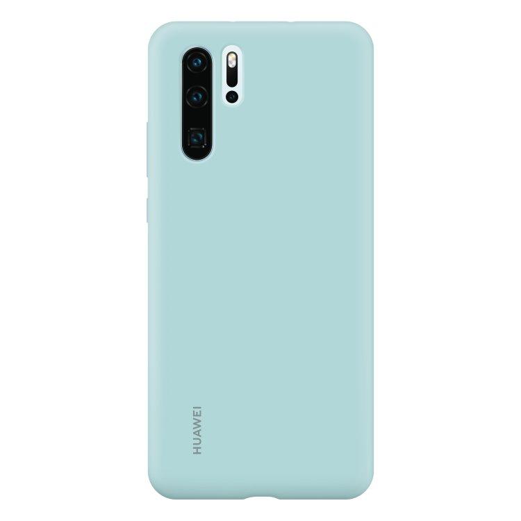Puzdro originálne Silicone Case pre Huawei P30 Pro, Light Blue