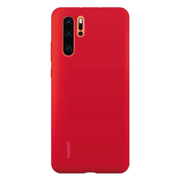 Puzdro originálne Silicone Case pre Huawei P30 Pro, Red