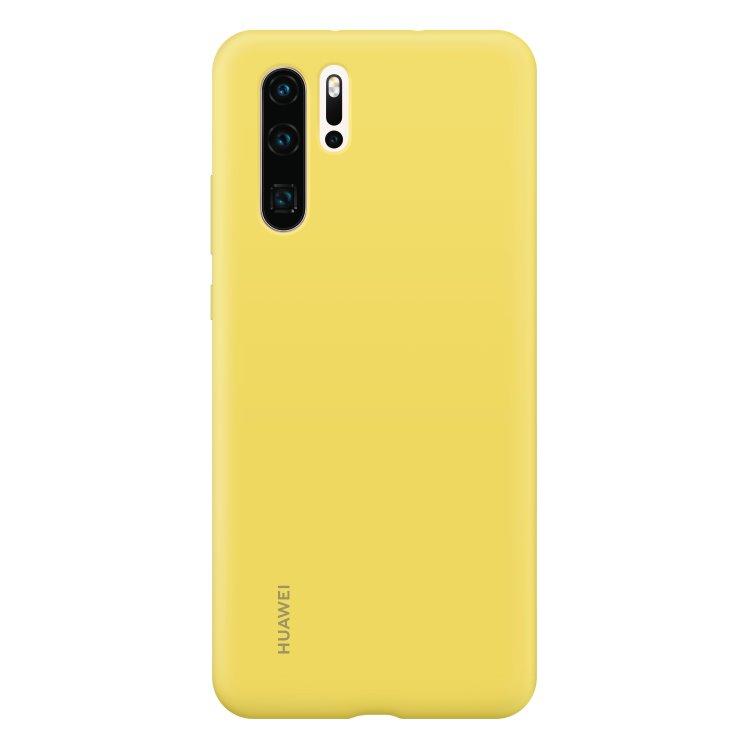 Puzdro originálne Silicone Case pre Huawei P30 Pro, Yellow