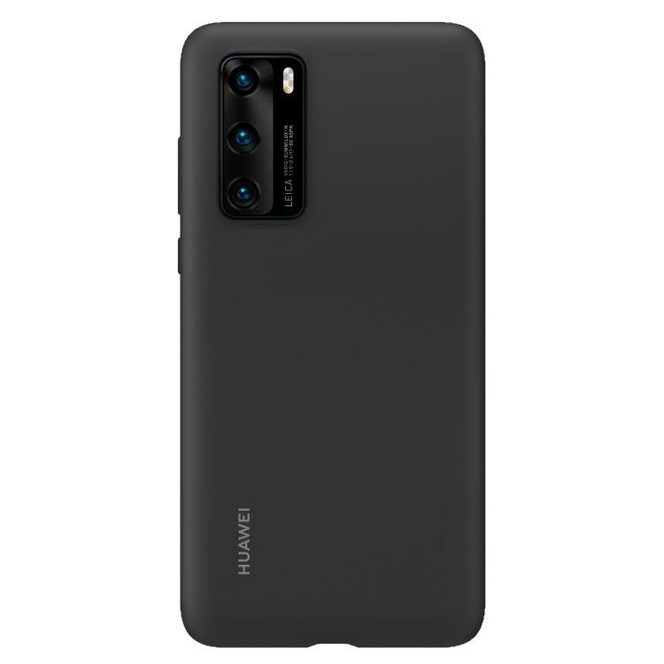 Puzdro originálne Silicone Case pre Huawei P40, Black 51993719