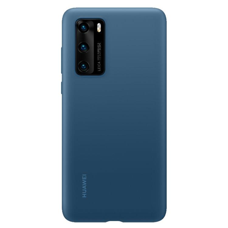 Puzdro originálne Silicone Case pre Huawei P40, Blue 51993721