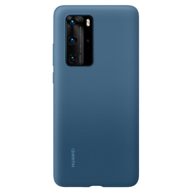 Puzdro originálne Silicone Case pre Huawei P40 Pro, Blue