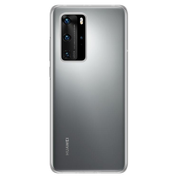Puzdro originálne Silicone Case pre Huawei P40 Pro, Transparent
