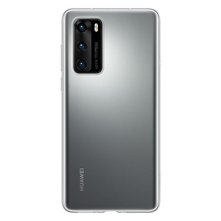 Puzdro originálne Silicone Case pre Huawei P40, Transparent 51993731