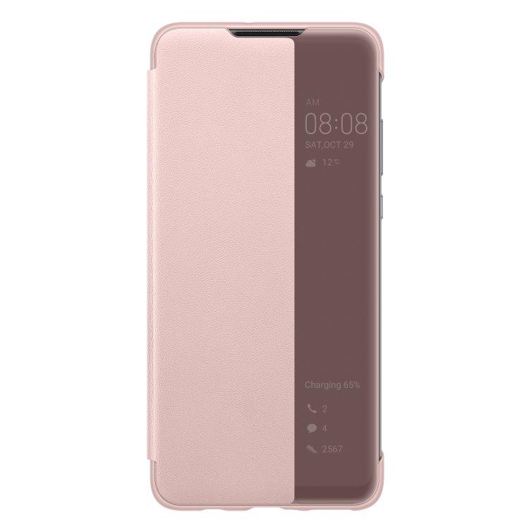 Puzdro originálne Smart View pre Huawei P30 Lite, Pink