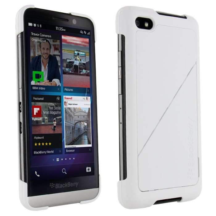 Puzdro origin�lne Transform Shell pre BlackBerry Z30, White
