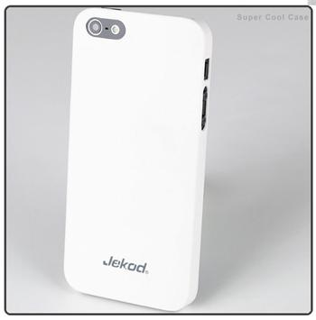 Puzdro plastov� Jekod Super Cool pre Apple iPhone 5, White + F�lia na displej