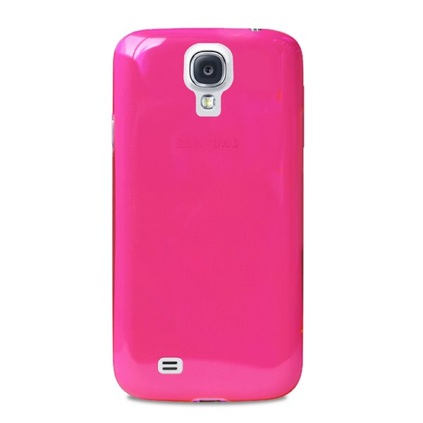 Puzdro PURO Crystal pre Samsung Galaxy S4 - i9505 a i9500, Pink PU00257